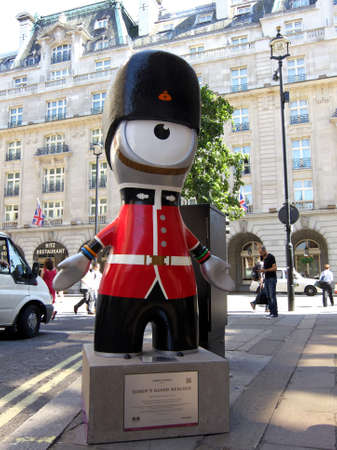 LONDON, UK, Monday July 23, 2012. Queen's guard Wenlock.