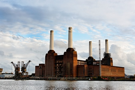 disused: Battersea power station in London, England, UK Stock Photo