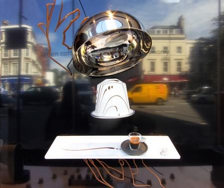 Nespresso display in London, England, UK Stock Photo - 16223518