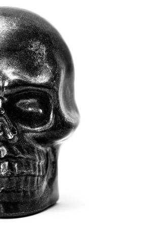 Half skull model in black and white Stock Photo - 16271654