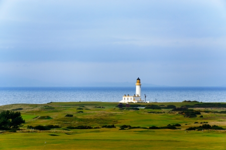 Tunberry lighthouse in Scotland, UK photo