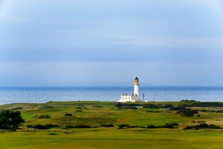 Tunberry vuurtoren in Schotland, Verenigd Koninkrijk Stockfoto
