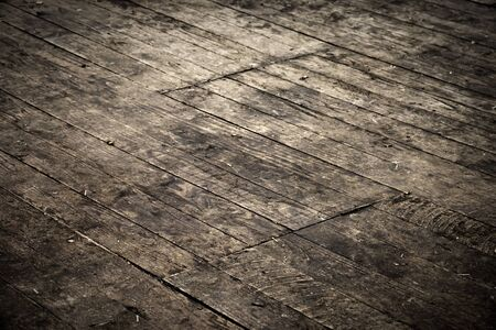 Grungy parquet, vintage look with vignette photo