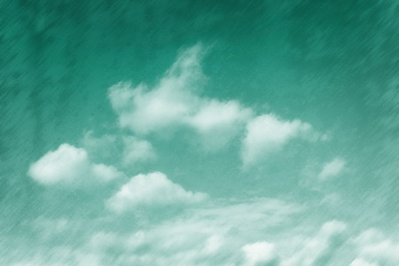 Emerald tinged sky background, grungy texture photo