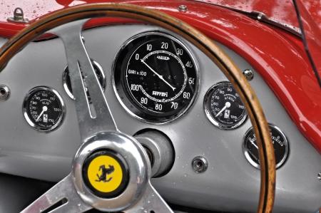 steer: Vintage Ferrari dashboard
