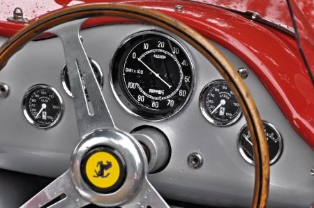 Vintage Ferrari dashboard