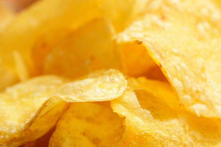 Crisps closeup Stock Photo