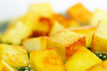 Fried paneer with sesame seed and spinach Stock Photo - 17841629