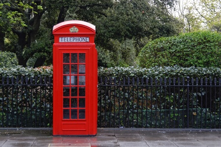 Traditional red telephone box, K2 model in London, England, UK photo