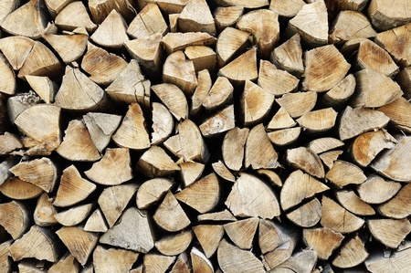A stere of logs background photo