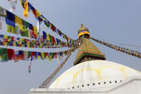 Bodhnath stupa also called Boudhanath is the largest stupa in the world, Kathmandu, Nepal Stock Photo - 18633212