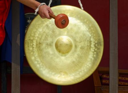 Gong: Gong in a Buddhist monastery, Kathmandu, Nepal