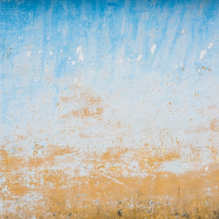 Dilapidated beige and blue wall texture, grungy background Stock Photo - 18936212