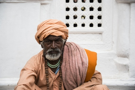 KATHMANDU, NEPAL - MARCH 10: A sadhu during Shivaratri festival, on March 10, 2013 in Kathmandu, Nepal. Shivaratri is celebrated each year to honor Lord Shiva. Stock Photo - 18864194