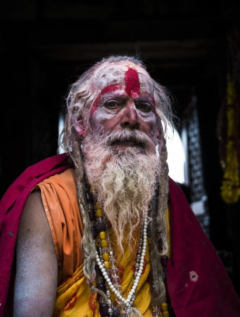 KATHMANDU, NEPAL - MARCH 10: A sadhu during Shivaratri festival, on March 10, 2013 in Kathmandu, Nepal. Shivaratri is celebrated each year to honor Lord Shiva. Stock Photo - 18864192