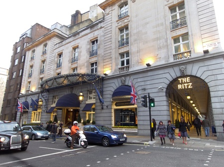 thatcher: LONDON - UK, April 08: The Ritz hotel where Margaret Thatcher has died from a stroke aged 87 on April 8, 2013 in London.