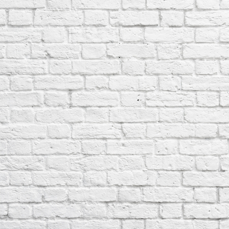 white: White brick wall texture or background