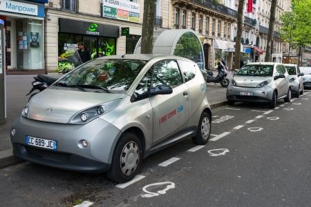 Elektrische auto sharing service Autolib 'in Parijs, Frankrijk