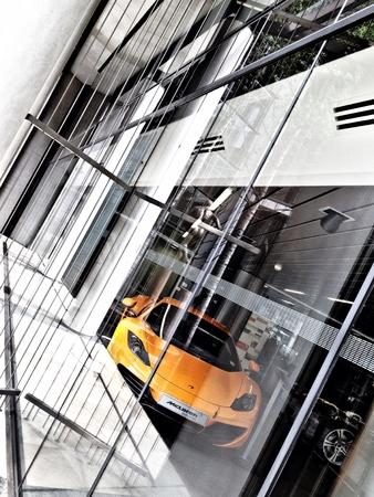 knightsbridge: McLaren 12C in Knightsbridge showroom