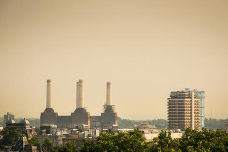 abandoned city: Battersea Power Station in London, England, UK