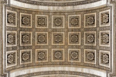 stone carving: Arc de Triomphe arch detail, Paris, France