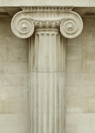 pilaster: Ionic column detail, greek architecture