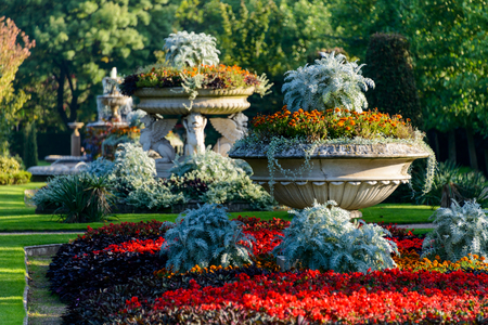ornamental horticulture: Beautifuly flowery park in summer