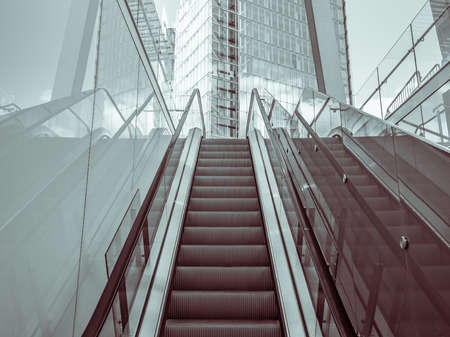 Outdoor escalator in a modern district photo