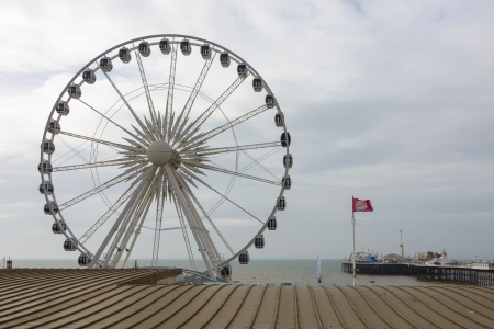 erected: BRIGHTON, UK - CIRCA APRIL, 2013  The Brighton Wheel was erected in October 2011 and should remain in place until 2016