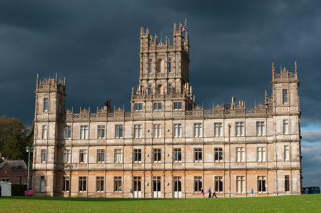 NEWBURY, UK - CIRCA OCTOBER 2011  Highclere Castle is the main setting for the ITV period drama Downton Abbey  Downton Abbey is broadcasted in more than 100 countries
