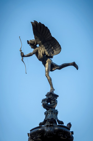 piccadilly: Eros Statue at Piccadilly Circus in London, UK
