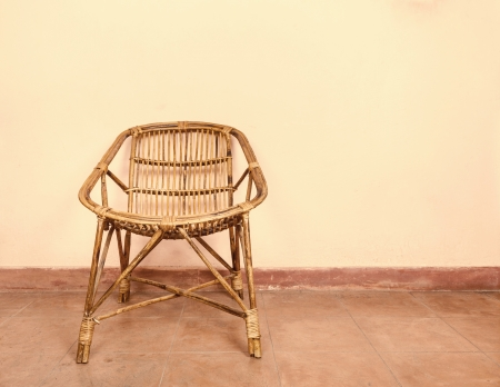 cane chair: Wicker armchair  Stock Photo
