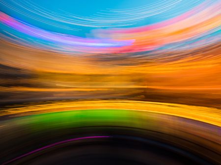 Abstract blurred light background in the night photo
