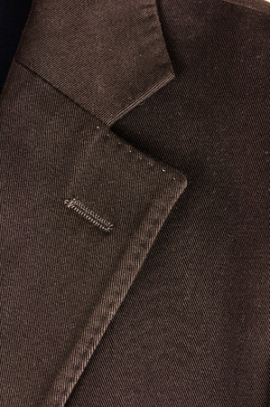 Brown cotton jacket detail photo