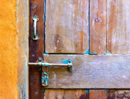 Old wooden door detail photo
