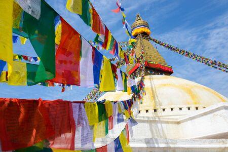 Boudhanath stupa in Kathmandu, Nepal photo