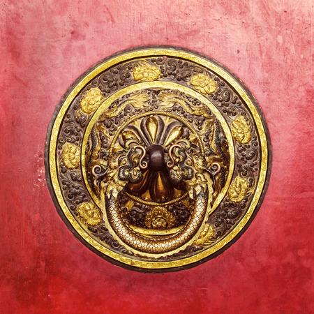doorknocker: Tibetan door knocker in Bodhnath, Kathmandu