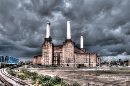 Battersea power station in London, UK  HDR photo