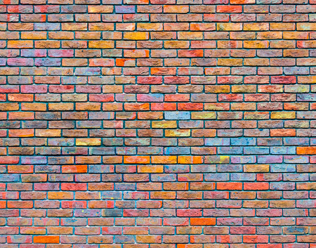 Colorful brick wall texture photo