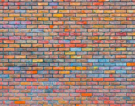 Kleurrijke bakstenen muur textuur