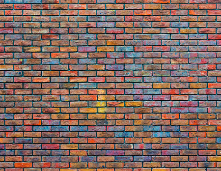 brick background: Colorful brick wall texture