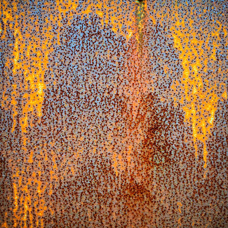 corrosion: Rusty steel sheet texture or background Stock Photo