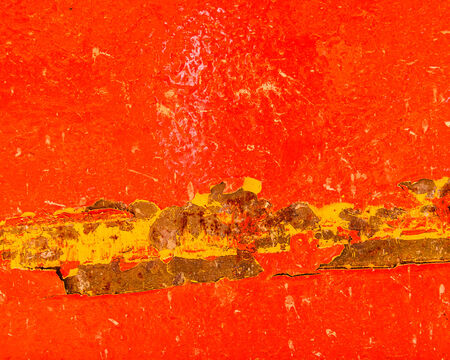 Red rusty metal sheet backgound photo
