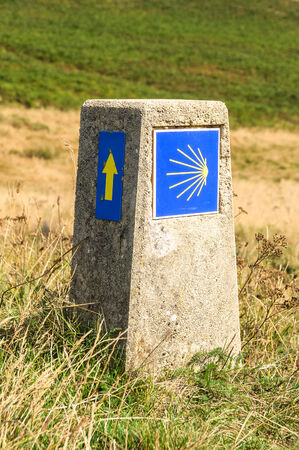 camino: Camino de Santiago sign Editorial