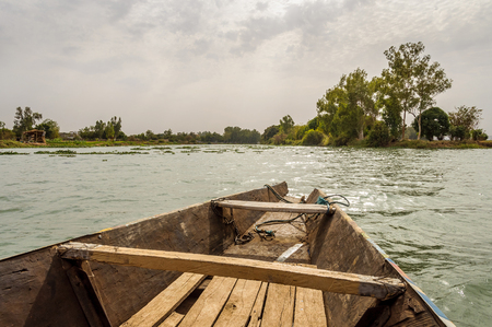 Pirogue on the river Niger in Mali photo