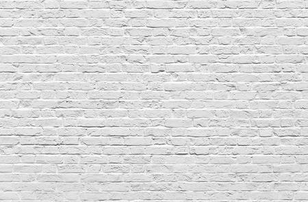 Branco tijolo textura de parede ou fundo