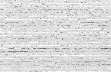 Witte bakstenen muur textuur of achtergrond Stockfoto