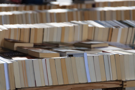 prose: Second hand books for sale Stock Photo
