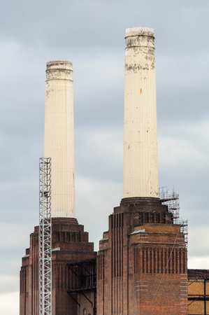 disused: Battersea power station in London, UK