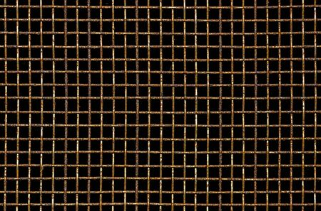 metal grid: Dirty and rusty mosquito wire mesh closeup